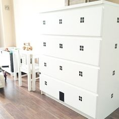 DIY Wrapping Gifts Inspiration mommo design: IKEA HACKS FOR KIDS - Pimp up your white Malm chest of drawers with black tape and make it into a