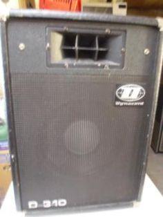 2 Stück Dynacord Boxen D310 80/120 Watt Gesang und Keyboard Singing, Boxing