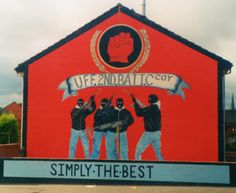 Ulster Freedom Fighters C Company [UDA] Mural. Belfast Murals, Northern Ireland Troubles, Freedom Fighters, Wall Murals, The Past, Murals, Wallpaper Murals, Wall Prints, Mural Painting