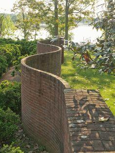 wavy garden wall