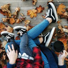 Fall twinning in the Toddler Sk8-Hi Zip & Old Skool.  Photo via ktnewms