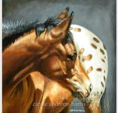 Appaloosa Horse Foal painting by Carole Andreen-Harris