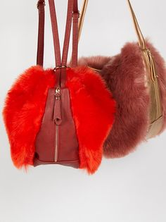 Faux Fur Convertible Backpack from Free People!