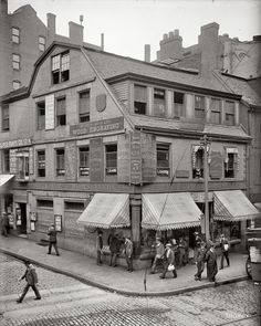 The Old Corner Book Store (Boston, MA); first brick building in the city
