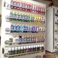 Paint organizing cabinet door