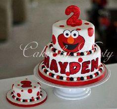 Elmo cake- Houston via Cakes by Dusty