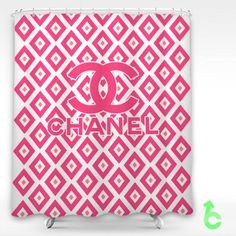 Cheap Chanel cute pink squares Shower Curtain