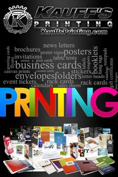 Business printing to promote any company. We can design an affordable package that suits your companies needs. Call Today!