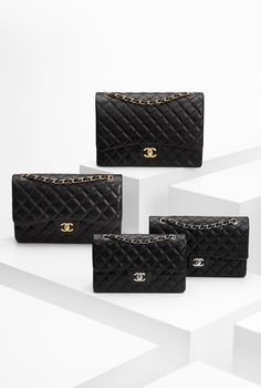 Chanel classic flap bag w/ gold accent. One day all of these will be mine