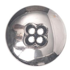 Mibo ABS Metal Plated Dome with Clover Shape Center 4 Hole Button Assorted Size Packs 15 mm 12-Pack