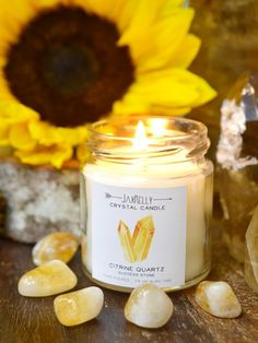 Burn a citrine crystal candle to infuse all aspects of your life with prosperity, abundance and success. Place one on your desk to manifest abundance with citrine's bright, light energy.