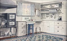 1921 Armstrong Kitchen - Sanitary Style by American Vintage Home, via Flickr