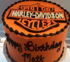 Orange Harley Davidson cake.JPG