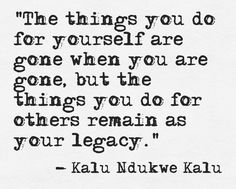 Things You Do For Others