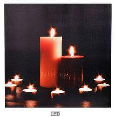 Schilderij met ledverlichting 2 kaarsen