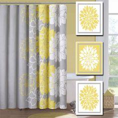 Relax Soak Unwind Yellow Grey Gray Flourish Dahlia Flower Artwork ...