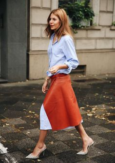 The skirt as a statement piece.