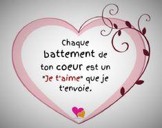 Un message d'amour qui touche un (e) homme (Femme)