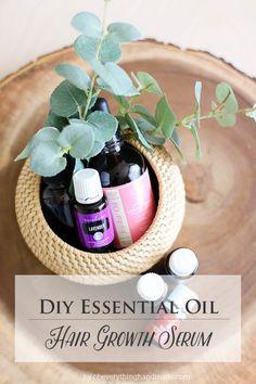 DIY Essential Oil Hair Growth Serum