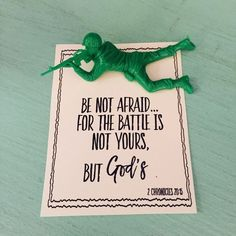 The Battle is NOT your, but God's printable