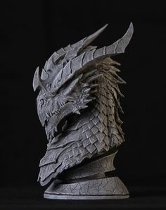 Dragon Sculpt by Arsenal21 sculpture bust equipment gear magic item | Create your own roleplaying game material w/ RPG Bard: www.rpgbard.com | Writing inspiration for Dungeons and Dragons DND D&D Pathfinder PFRPG Warhammer 40k Star Wars Shadowrun Call of Cthulhu Lord of the Rings LoTR + d20 fantasy science fiction scifi horror design | Not Trusty Sword art: click artwork for source