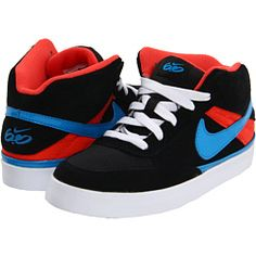 new concept ac535 52c6f Nike 6 0 kids mavrk mid 2 jr toddler youth black max orange white heritage  cyan