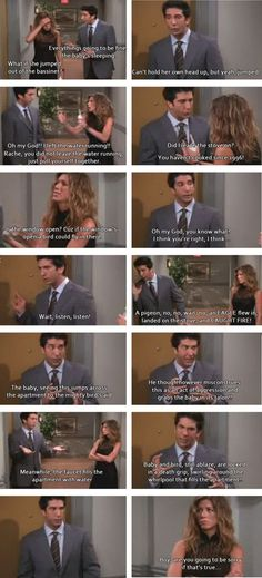Friends is my all time favorite show! This scene makes me laugh every time! As moms, I think we all feel like Rachel sometimes! Tv: Friends, Friends Moments, I Love My Friends, Friends Tv Show, Friends Forever, Friends Scenes, Funny Friends, Friends Episodes, Friends Ross And Rachel