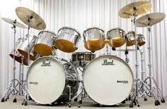Double Bass Drum Set, Pearl Drums, Drums Beats, Snare Drum, Drum Kits, Drummers, Percussion, Metallica, Braided Hairstyles