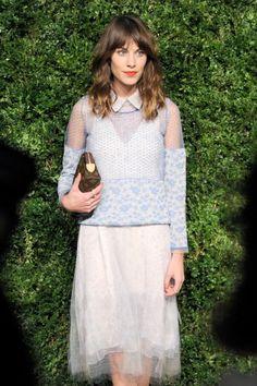 Alexa Chung's pretty waves at the 2012 CFDA/Vogue Fashion Fund Awards