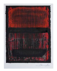 """Ayana Mizuno  """"Red sky, Black rain"""" Acrylic and crayon on paper  #abstract #landscape #sky #rain #minimal #new #artwork #drawing #art #crayon #painting #acrylic #now #kunst #arte #artist #red #black #design #picture #instart #follow #color #sketch #modernart #gallery #fashion #illustration #contemporaryart #アート"""