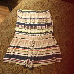 Lucky Brand Stripe Bathing Suit Cover-Up/Romper