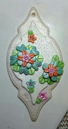 Polymer clay ornament. Inspired by Kay Miller.