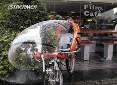 Die Verkleidung Streamer schützt vor Wind und Wetter