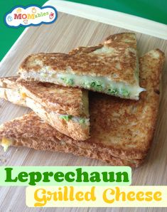 St. Patrick's day Grilled-Cheese school lunch idea MOMables.com