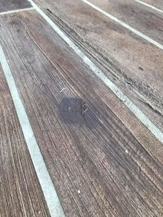 Wood Grain Concrete Floors and Driveways - Direct Colors Painted Concrete Steps, Stained Concrete Porch, Concrete Wood Floor, Faux Wood Paint, Faux Wood Flooring, Porch Flooring, Painting Concrete, Wood Patio, White Concrete