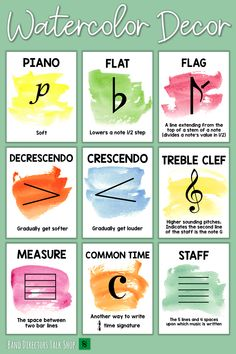 Need music bulletin board ideas? This music classroom decor set is beautiful! With bright pops of color, the watercolor design is pretty on these music symbols posters for the walls of your music classroom. Included are 72 posters plus extra blank & editable music posters! Awesome for your music bulletin board. These posters are fun for elementary music classroom decor, middle school music classroom decor & high school music classroom decor. Also great for a door or music word wall too!