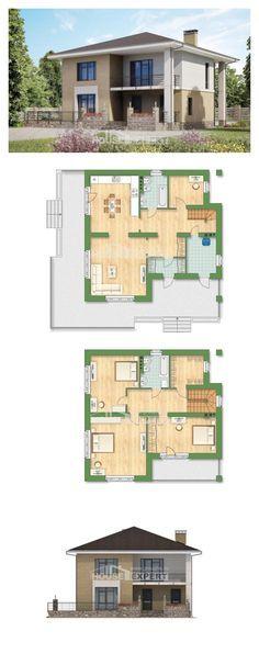 Ev villa projesi 180-015-L | House Expert