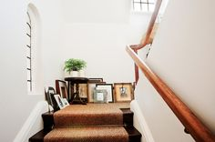 Arts and Crafts cottage gets made over; nice wallpapers; interesting framed photo display