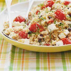 Salade méditerranéenne Vegetarian Recipes, Cooking Recipes, Healthy Recipes, Healthy Food, Ricardo Recipe, Lentil Salad, Cold Meals, Pasta Salad, Feta