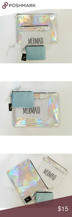 MERMAID POUCH 🌸 Mermaid Pouch🌸 Brand New Such a cutie pouch.. Transparent Makeup Bags Bags Cosmetic Bags & Cases