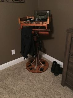Cop caddy Police Wife Life, Cop Wife, Police Gear Stand, Police Duty, Police Officer, Warrior Rack, Airsoft, Police Gifts, Gear Rack