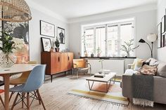Retro-scandinav într-un apartament de numai 40 m² Jurnal de design interior
