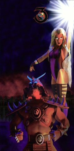 Mortal Kombat 3 Arcade Cabinet Art