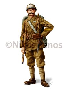 HELLENIC (GREEK) ARMY UNIFORMS, 1915-1924 by Nikos Panos, via Behance