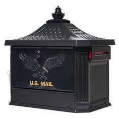 Gibraltar Mailboxes Hamilton W x H Metal Black Post Mount Lockable Mailbox at Lowe's. The Hamilton locking post-mount mailbox will bring quality and craftsmanship to your yard and is a beautiful addition to any curbside landscape. Large Mailbox, New Mailbox, Mailbox Post, Mailbox Ideas, Wall Mount Mailbox, Mounted Mailbox, Inside Front Doors, Lockable Mailbox, Residential Mailboxes