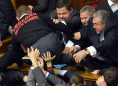 Klitschko Stays Out Of Ukrainian Parliament Brawl