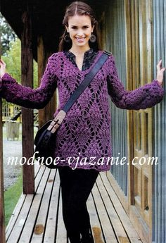Maglietta viola! avec shéma - think the pattern is better suited to a blanket