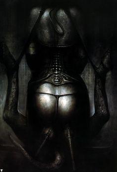 Hans Rüdi Giger: The Bride of Satan Hr Giger Alien, Hr Giger Art, Arte Horror, Horror Art, Chur, Alien Art, Xenomorph, Art Sites, Wolf