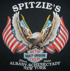 Spitzie's Harley Davidson of Albany-Schenectady, New York t-shirt.