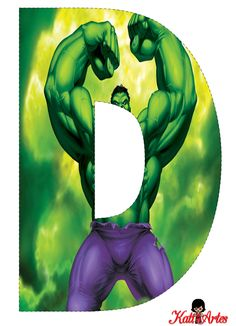EUGENIA - KATIA ARTES - BLOG OF CUSTOM LETTERS AND SOME STUDIES: HULK Alphabet and Numbers